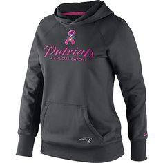 Women s Nike New England Patriots Breast Cancer Awareness All Time Hooded  Sweatshirt Nfl Dallas Cowboys 653a49444