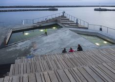 Floating structure by White Arkitekter offers harbour swimming | A small town on the Danish island of Bornholm has become another destination for harbour swimming facilities, thanks to a series of new walkways and structures by Swedish firm White Arkitekter (+ slideshow).
