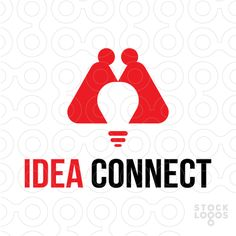 This logo is little bit awkward, maybe because of the way how two people are arranged. But two people are connected and there is a lightbulb that represent the idea.