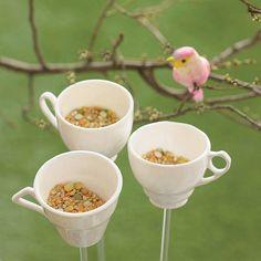 teacup bird drinker or feeder by flock-follies | notonthehighstreet.com