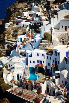 Oia Caldera, Santorini, Greece