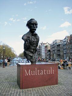 Amsterdam City Centre, I Amsterdam, Max Havelaar, Van Gogh Museum, Netherlands, Holland, Book Art, Around The Worlds, Statue