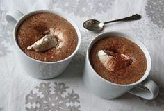 En kopp varm choklad värmer ända in i själen. Munnar, Hot Chocolate, Chips, Pudding, Sweets, Tableware, Desserts, Food, Drink