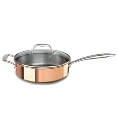KitchenAid Tri-Ply Copper 3.5-Quart Sauté with Lid #copper