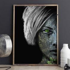 Croc Face  Printable Art Naturemorphosis Face von naturemorphosis