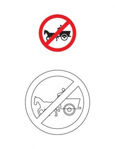 Tonga prohibited traffic sign coloring page | Download Free Tonga prohibited traffic sign coloring page for kids | Best Coloring Pages