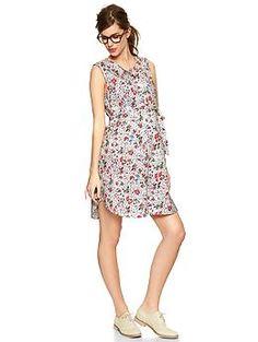 Floral print shirtdress