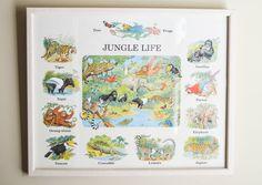 Jungle Life Children's Décor  Children's by NewFoundVintiques