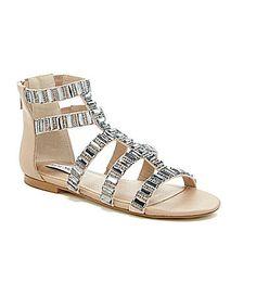 Steve Madden Cameoo Jeweled Gladiator Sandals #Dillards