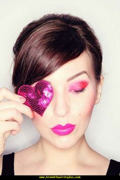 Colorful and Lovely Make-up and Hairstyle - http://www.trend-hairstyles.com/street-style/colorful-and-lovely-make-up-and-hairstyle.html
