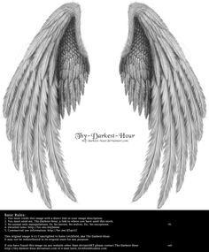 drawn angel wings - Google Search