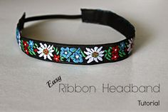 The Pickled Herring: Simple Ribbon Headband Tutorial