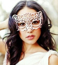 Victoriana leather mask in White. $39.00, via Etsy. ...for one day when I make it back to Mardi Gras in NO