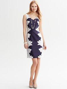Paisley Print Dress | Banana Republic Lovely and slimming!