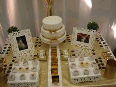 Decoração para festa de bodas de ouro 006