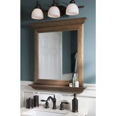 Bathroom Mirror Lowes shop allen + roth palencia 30-in w x 34-in h espresso rectangular