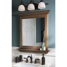 Shop Allen Roth Ballantyne 34 In H X 30 In W Mocha With Allen Rothbathroom Mirrorsbathroom