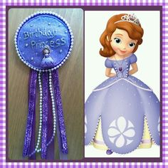 Sofia the first inspired birthday rosette