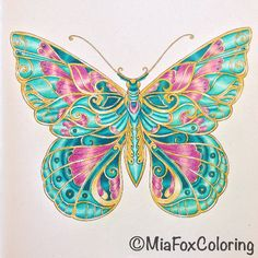 12092016 Johanna Basford Colouring Gallery is part of Butterfly - Take a peek at this great artwork on Johanna Basford's Colouring Gallery! Butterfly Mandala, Butterfly Painting, Butterfly Wallpaper, Butterfly Cards, Butterfly Drawing, Coloring Book Art, Mandala Coloring, Art Plastic, Magical Jungle Johanna Basford