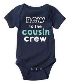 LC Trendz | Navy 'New to the Cousin Crew' Bodysuit - Infant