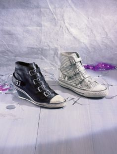 Buckle up with some trendy sneakers.