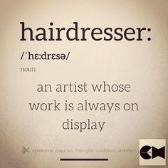 Best definition of a hairdresser...ever! HOT Beauty Magazine #hotonbeauty