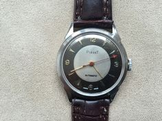 VINTAGE PIAGET WRIST WATCH FANCY DIAL AUTOMATIC STAINLESS STEEL 1950s #Piaget