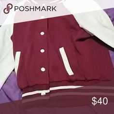 Maroon varisity jacket Comfy for winter button up brandon Thomas  Other