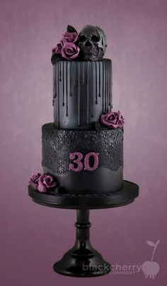 Inspiration Picture of Gothic Birthday Cakes . Gothic Birthday Cakes Black C. Inspiration Picture of Gothic Birthday Cakes . Gothic Birthday Cakes, 30th Birthday Themes, Birthday Cake Smash, My Birthday, Birthday Cake Designs, Girly Birthday Cakes, Girly Cakes, Bolo Halloween, Halloween Cakes