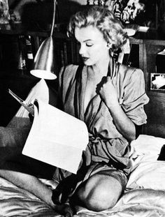 Marilyn Monroe relaxing at home. A George Vreeland Hill Pinterest post.
