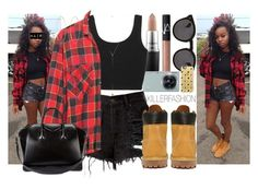 """""""Flannel Timbs"""" by killerfashion ❤ liked on Polyvore featuring NARS Cosmetics, MAC Cosmetics, Samsung, Timberland, Jennifer Zeuner, Givenchy, Illesteva, Casetify and Lana"""
