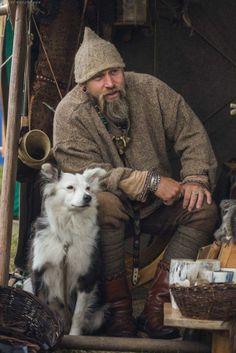 a dog and his viking