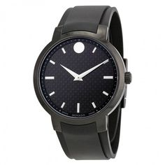 Movado Gravity Black Carbon Fiber Men's Watch 0606849