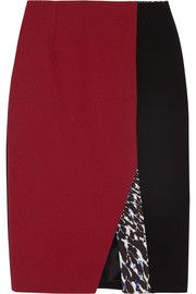 Shop discount Peter Pilotto Kyra color-block wool-crepe skirt. Browse other designer skirts & more at up to 70% off at THE OUTNET.COM, the world's most fashionable fashion outlet.