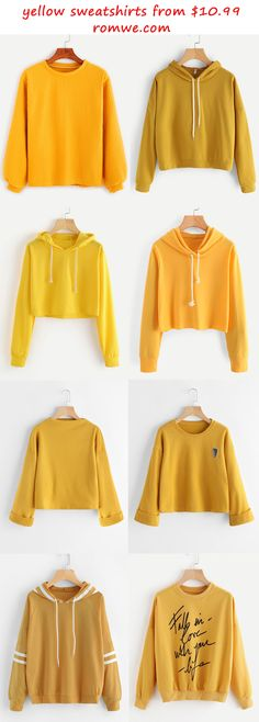 yellow sweatshirts 2017 - romwe.com