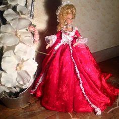 doll ooak marie antoinette red