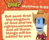 Bible verse of the day: Matthew 6:33. Free download for kids plus devotional for parents.