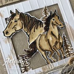 Let it Ride Stamp Set by Stampin' Up! Cards created by Stesha Bloodhart, Stampin' Hoot! White Wood Texture, Stampin Up Karten, Horse Cards, Westerns, Stamping Up Cards, Birthday Cards For Men, Animal Cards, Wooden Hearts, Masculine Cards