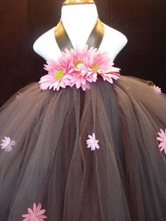 love brown and pink every little girl should own at least 4 tutu dresses!