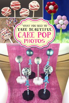 If you want to take beautiful cake pop photos, don't miss this! Learn exactly what tools you need and where to get them.