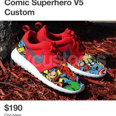 new arrival 0d58a 12c92 Marvel Clothes, Nike Roshe Run, Hand Painted Shoes, Shoes Online, Fitness  Fashion