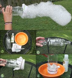 Fazedor de serpente com bolhas de sabão