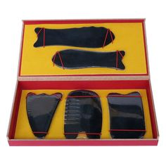 Find More Massage & Relaxation Information about Thicken Oversize Durable buffalo horn 5pcs/set Traditional Acupuncture Massager tool gift box multifunction Gua Sha beauty kit,High Quality Massage & Relaxation from Tanly's store on Aliexpress.com