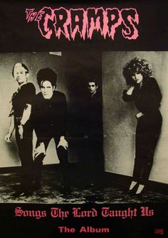 THE CRAMPS promo poster for their debut album Songs The Lord Taught Us, 1980 (poster)