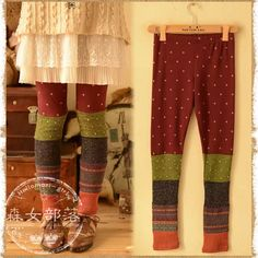 Women Dot Patchwork Casual Leggings Thin Spring Ankle Length Long Trousers Elastic Waist Cute Japanese Mori Girl sold by DREAMWORLD. Shop more products from DREAMWORLD on Storenvy, the home of independent small businesses all over the world. Mori Girl Fashion, Diy Fashion, Fashion Music, Green Fashion, Fashion Styles, Fashion Boutique, Trendy Fashion, Womens Fashion, Girls Pants