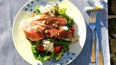 Ricotta + Strawberry + Parma ham salade <3