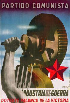 Spain - 1937. - GC - poster - @ Josep Renau. Industria de guerra. Potente palanca de la victoria,