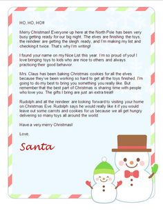 Grab this free printable letter from santa santa christmas letters from santa nice way to remind your kids its not all about the gifts spiritdancerdesigns Choice Image