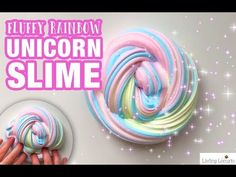 How to make Rainbow Unicorn Fluffy Slime in only 5 minutes! An easy video tutorial and homemade fluffy slime recipe. A fun kids craft activity.