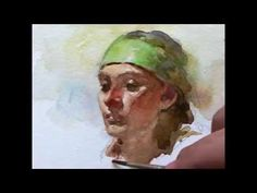 Watercolor portrait painting demo, by Zimou Tan - YouTube